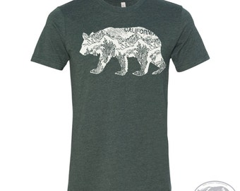 Mens California BEAR T Shirt s m l xl xxl (+ Color Options)