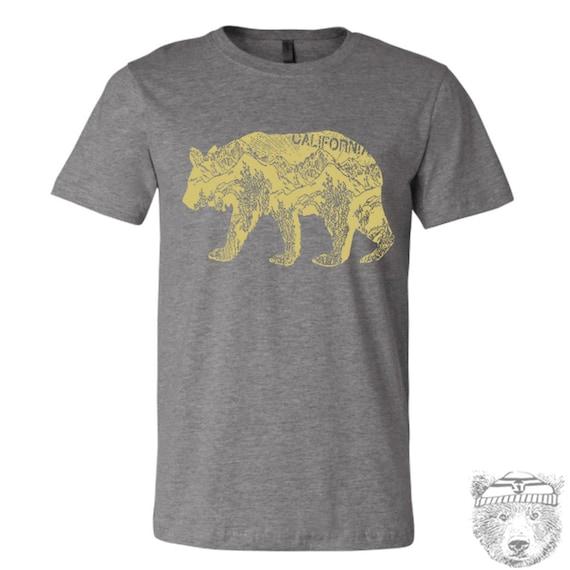 Mens California BEAR T Shirt s m l xl xxl (++ Color Options)