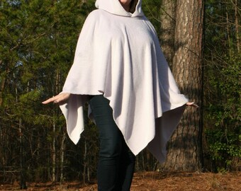 Lavender Bliss Microfleece Hooded Poncho Ultrasoft Silky Furry Doublesided Minkee Ready to Ship One of A Kind Hoodie