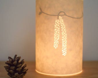 Floral Design Paper Candle Tea Light Cover / Gift Idea / Gift for Her / Dandelion Clock / Hannah Nunn