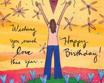 Greeting Card : Wishing you much love