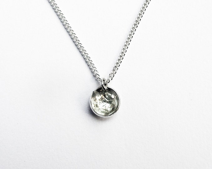 Herkimer Diamond Crystal Necklace and Sterling Silver