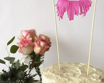 Mini-Fringe Cake Topper - Choose your Color!