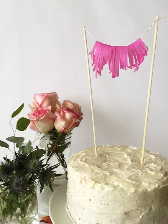 Mini-Fringe Cake Topper - Choose your Color!