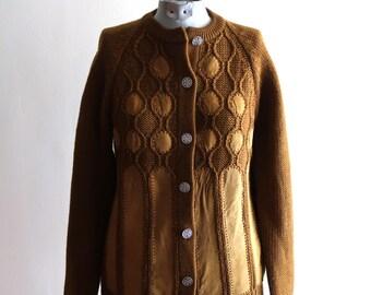 Suede knit 50s / 60s sweater cardigan sz. Small / Medium