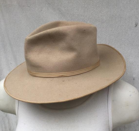 ab548fdfa8d08 Classic Cowboy Hat Open Road  STETSON Cowboy Hat Open Road 1940s 1950s Sz 6  3