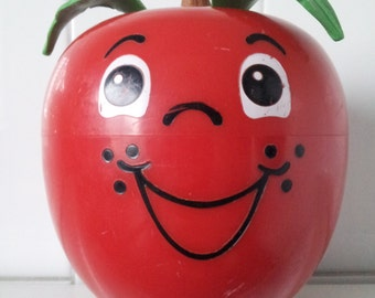 Vintage 1972 Fisher Price Happy Apple Short Stem Roly Poly