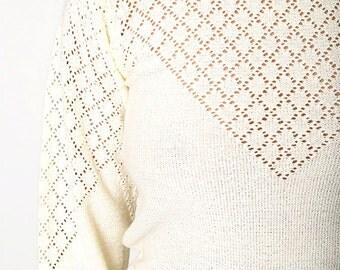The Vintage Beige Knit Sweater