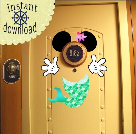 little mermaid ariel princess disney cruise door magnet