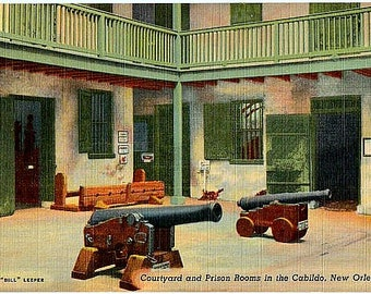 Vintage New Orleans Postcard - Courtyard in the Cabildo (Unused)