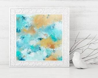 Abstract Printable Art - Abstract Art Print - Square Abstract Print - Coastal Home Decor - Beach House Decor - 10x10 8x8
