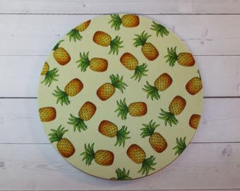 Pineapples Mouse Pad mousepad / Mat - Rectangle or round - pineapple mousepad pineapple yellow mat