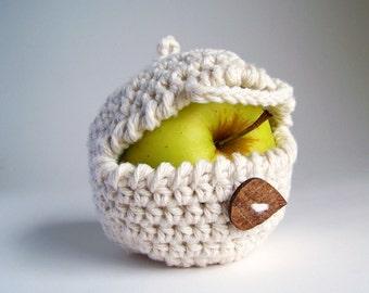 Apple Cozy, Back To School Gift, Crochet Apple Cozy, Crochet Cozy, Apple Decor, Rustic Wedding Favors,  Gifts For Children, Vegan Gifts