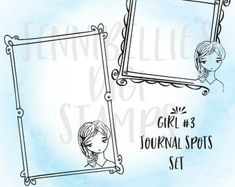 Simple Girl Journal Spots Digi Stamp Set #3 by Jennibellie