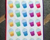 Cute bubble tea sticker sheet, kawaii boba tea, cute planner stickers, kawaii sticker set, cute bubble tea