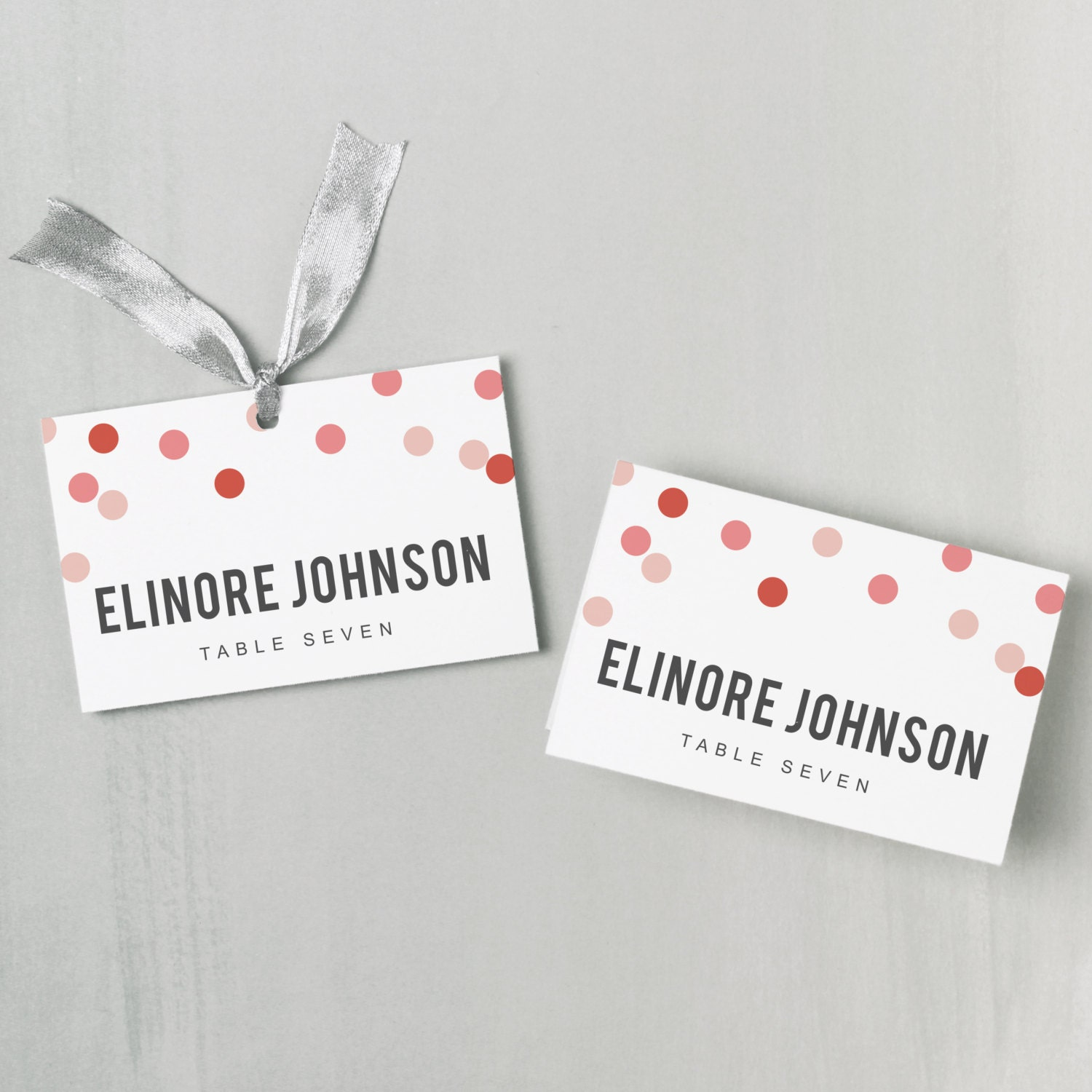 printable place card template instant download confetti escort card editable colors mac