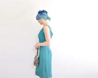 sapphire blue velvet floral half hat . 1950 flower fascinator with tulle veil