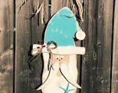 Santa Coastal Door Hanger Coastal Christmas and Holiday