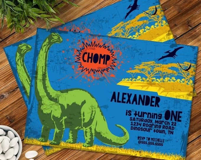 Dinosaur Party Invitation - Dinosaur Birthday, Dinosaur Party Printable, Dino Party   Editable Text - DIY Instant Download PDF Printable