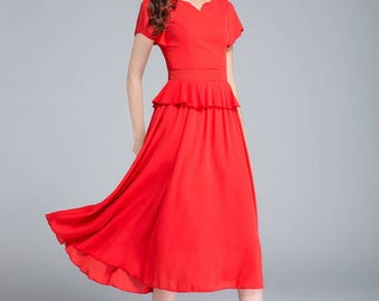 Red Long Dresses for Weddings