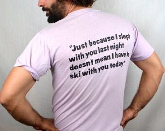 Vintage Funny Whitefish Montana Purple Tshirt Tee Shirt