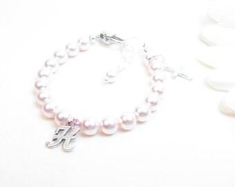 Baby Bracelet // Baby Girl Bracelet // Christening Bracelet // Baptism Bracelet // Little Girl Bracelet // Pink Baby Bracelet