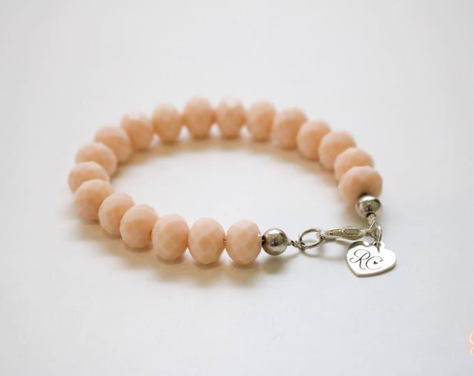 RC Signature Bracelet in Beige Pink.