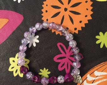 Purple Skull Love Stretch Bracelet