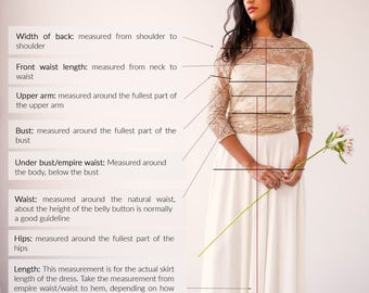 "How-to-measure guide for your FRIDA ""made-to-measure"" dress, Mimètik Bcn"