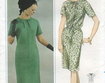 Princess Seam Dress Sewing Pattern Size 14 1/2 Bust 35 Butterick 3445 UNCUT, Half Size, Raglan Sleeves, Bound Neckline, Vintage 1960s