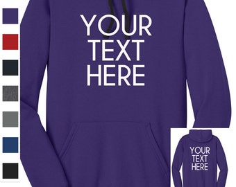 Custom Made District® - Juniors The Concert Fleece™ Hoodie. DT811 Vinyl or Glitter Print Customized All Colors