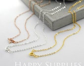 """5 Pcs Nickel Free, Lead Free & Cadmium Free Golden / Silver / Rose Gold Plated Long Chain Necklace ,18""""Length Optional  (ZE173)"""
