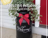 Welcome vinyl decal, Welcome decal, Front Door Welcome, Milk Can decal, Porch decor, vinyl lettering PC1304