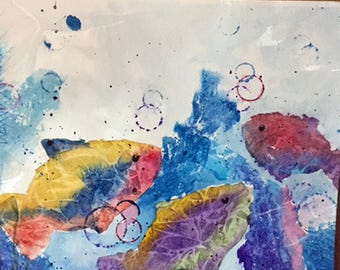 Original Fish Watercolor Painting