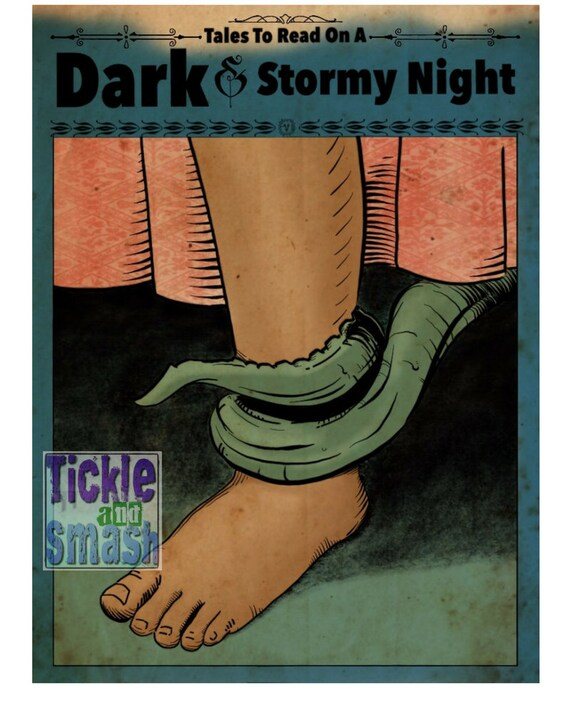 Scary Tentacle Card - Tales To Read on A Dark and Stormy Night - Spooky - Great Greeting Card for Halloween