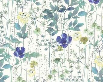 Flower Garden, Irma, Liberty Tana Lawn Fabric, Liberty of London, Liberty Japan, Cotton Print Scrap, Floral Patchwork Quilt Fabric, kt3182d