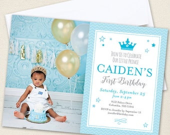 Prince Party Photo Invitations - Professionally printed *or* DIY printable