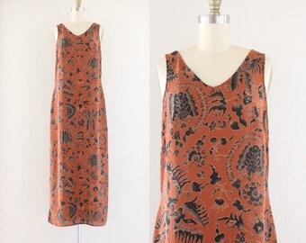 1990's sheer flora + fauna dress
