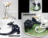 Dragon Wedding Topper, Unicorn Wedding Topper, Dragon and Unicorn Sculpture, Dragon, Unicorn, Figurine, Art, Cake Topper, Dragon Love, bride