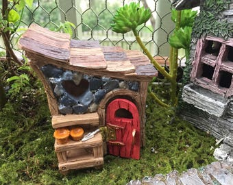 Mini Garden Shed, Shingletown Fairy Garden Shed, Miniature Gardening Accessory, Garden Decor