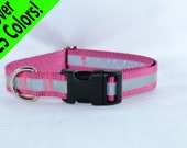 Reflective Adjustable Dog Collar - many colors - any size - MADE to ORDER