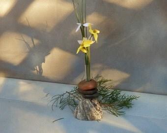 Bud Vase of Lake Superior Stone;  #22