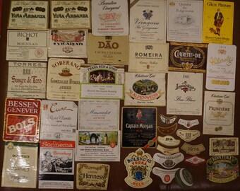 Vintage Liquor Labels Lot #12