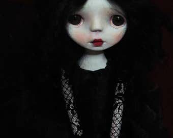 SALE-Handmade Collectible Unique -OOAK- Clay poseable Art doll- Lila