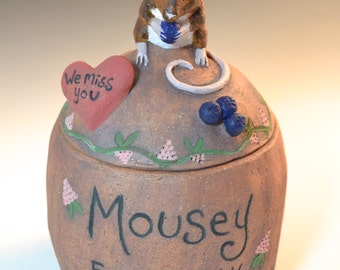 Custom Mouse, Rat, Rabbit, Hamster, Chinchilla or other small animal urn, urn for a small pet, urn for mice