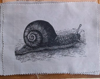 Snail patch handprinted