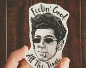 Feelin' Good Seinfeld Vinyl Sticker