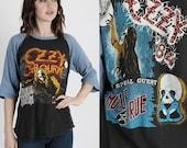 Ozzy Osbourne T Shirt Ozzy Osbourne Tee Motley Crue T Shirt Bark At the Moon Vintage 80s Band Concert T Shirt Tour Metal Rock T Shirt
