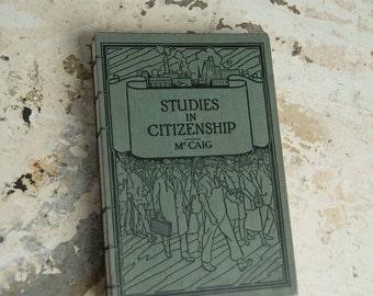 1925 CITIZENSHIP Lined Notebook Journal