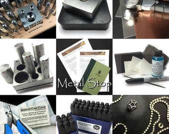 Ultimate Jewelry Making Tools for Making Your own Metal Discs, Doming, Polish and Patina Stamping Kit. Make fabulous personalized jewelry.